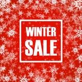 冬天在背景的销售题字 免版税库存图片