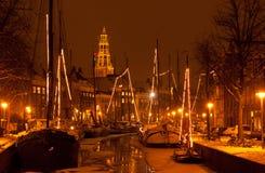 冬天在荷兰 免版税图库摄影