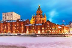 冬天在赫尔辛基,芬兰 库存图片