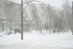冬天在镇 免版税图库摄影