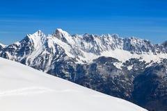 冬天在阿尔卑斯 库存照片