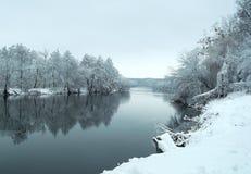 冬天在雨中 免版税库存照片