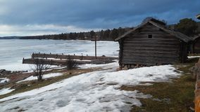 冬天在Darlana 库存图片
