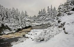 冬天在Flatrock 库存照片