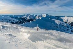 冬天在Kasprowy Wierch天foto附近的高Tatras 库存照片