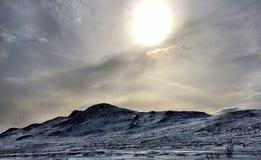 冬天在Kittelfjäll 库存图片