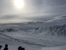 冬天在Kittelfjäll 库存照片