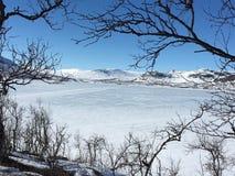 冬天在Kittelfjäll 图库摄影