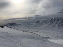 冬天在Kittelfjäll 免版税库存图片