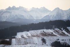 冬天在Podhale 库存照片