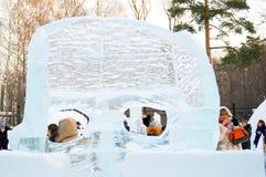 冬天在Sokolniki公园,莫斯科,俄罗斯 图库摄影