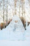冬天在Sokolniki公园,莫斯科,俄罗斯 库存图片