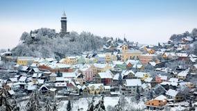 冬天在Stramberk 免版税库存照片
