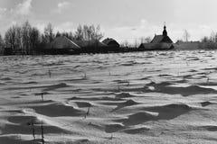 冬天在Strochitsy 免版税图库摄影