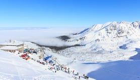 冬天在Tatras,在Kasprowy Wierch上面  免版税库存照片