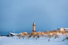 冬天在Warnemuende 免版税库存照片