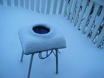 冬天场面在雪秋天以后 免版税库存图片