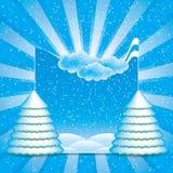 冬天场面框架 免版税库存照片