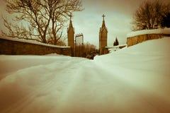 冬天城堡路 图库摄影