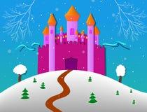 冬天城堡 向量例证