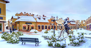 冬天城市 库存照片