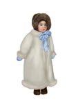 冬天外套的小女孩 免版税图库摄影