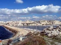 冬天多云天在马赛 免版税库存图片