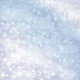 冬天多雪的抽象背景 库存图片