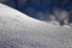 冬天多雪的随风飘飞的雪 库存照片