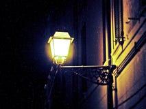 冬天夜在费拉拉 图库摄影