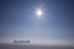 冬天太阳 免版税库存照片