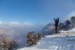 冬天奇迹在大峡谷 库存照片