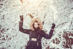 冬天女孩 库存照片