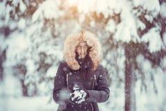 冬天女孩 库存图片