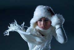 冬天妇女 库存照片