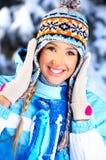 冬天妇女 免版税库存图片