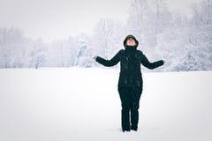 冬天妇女 免版税库存照片