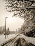 冬天妙境在格拉茨 免版税库存照片