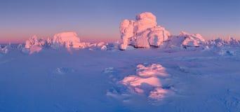 冬天妙境,在捷克拍的照片 免版税库存照片