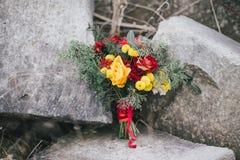 冬天婚礼花束 免版税库存图片