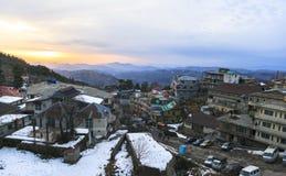 冬天季节在穆里,巴基斯坦 库存图片