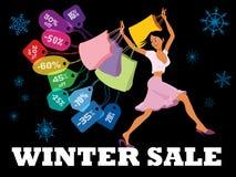 冬天季节性销售 免版税库存图片