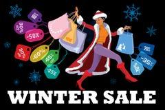 冬天季节性销售 免版税库存照片