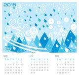 冬天季节-概念日历 库存例证