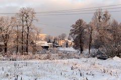 冬天寒冷风景 库存图片