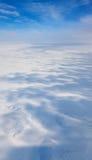 冬天寒带草原从上面 库存图片