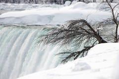 冬天尼亚加拉瀑布 库存照片
