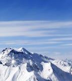 冬天山在好天儿 库存图片