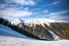 冬天山风景 库存照片