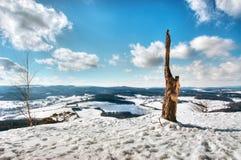 冬天山风景 库存图片